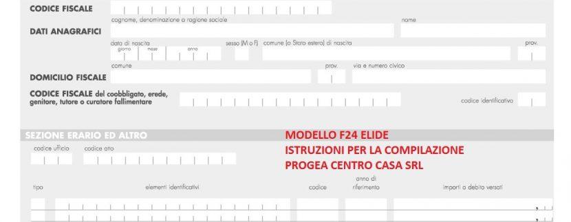 modello f24 elementi identificativi da